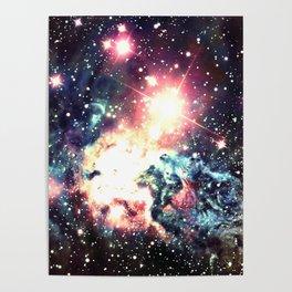 Fox Fur Nebula : Deep Pastels Galaxy Poster