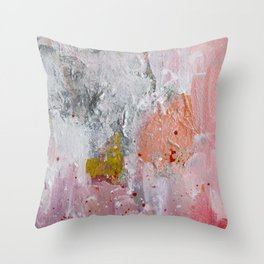 Costanza, sweet Lady Abstract Contemporary art Throw Pillow