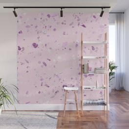 Raspberry Pink Quartz Terrazzo Wall Mural