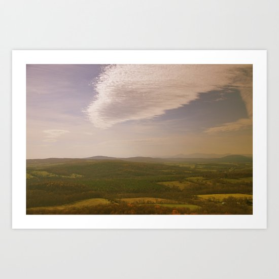 Mountains and Valleys Art Print