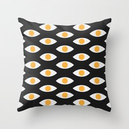 eye pattern Throw Pillow
