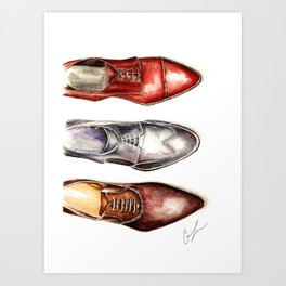 3 Shoes Art Print