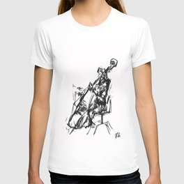 Playing the contrabass T-shirt