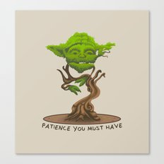 Bonsai Yoda Canvas Print