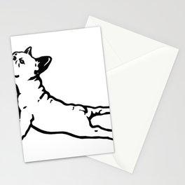FRENCH BULL DOG YOGA NAMASTE product FUNNY GYM design DOGS Stationery Cards