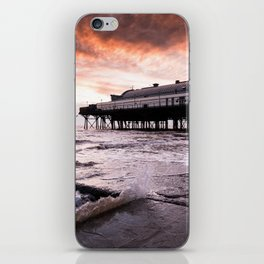 High tide at the Pier iPhone Skin