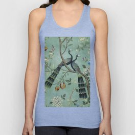A Teal of Two Birds Chinoiserie Unisex Tanktop