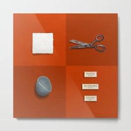 Paper, Scissors, Stone Metal Print