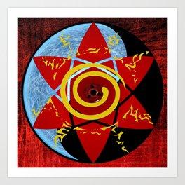 Naruto seal Art Print