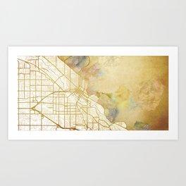 Boise Watercolor Map Art Print