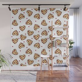 Pizza hearts cute love gifts foodie valentines day slices Wall Mural