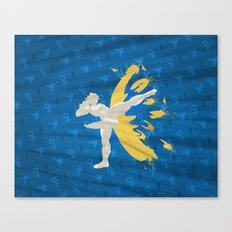 Kickin' It (An Homage To Chun-Li) Canvas Print