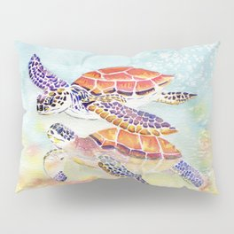 Swimming Together - Sea Turtle Pillow Sham