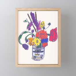 Flowers (Fauvism/PopArt) Framed Mini Art Print