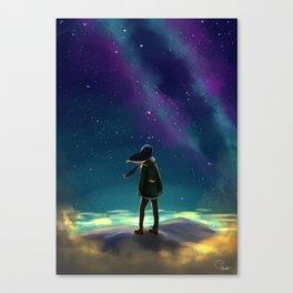 Stargazing Artwork Canvas Print