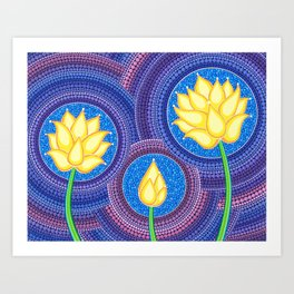 Dreamy Lotus Family Art Print