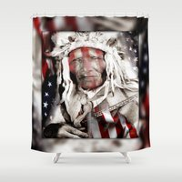 freedom Shower Curtains featuring Freedom by Robin Curtiss