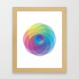 Spiral Rose Framed Art Print