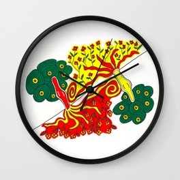 Rooted caress Wall Clock