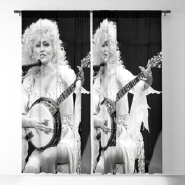 Dolly Parton On Stage Strumming A Country Banjo Blackout Curtain