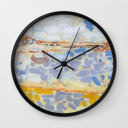 Harbour with Boats Wall Clock