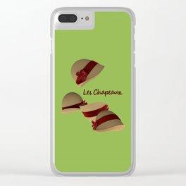 Les Chapeaux Clear iPhone Case