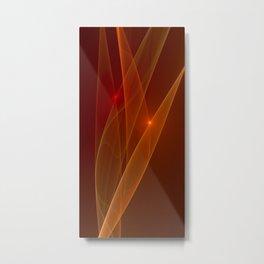 Lights Are Shining, Abstract Fractal Art Metal Print