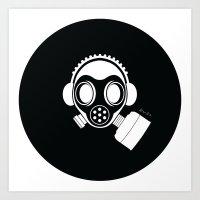 Post World Zuno : Gas Mask 04 Art Print