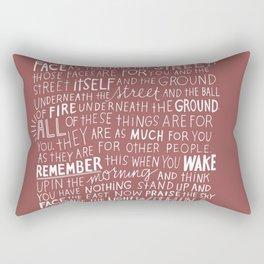 Quote wallpaper Rectangular Pillow