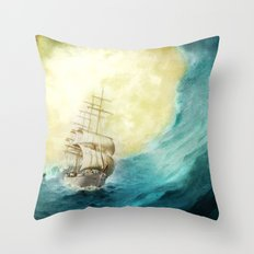 Through Stormy Waters Throw Pillow