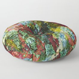texture paint peeling weathered Floor Pillow