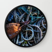 tangled Wall Clocks featuring Tangled by Caroline Benzies Photography