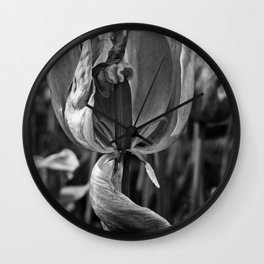 'DYING TULIPS' Wall Clock