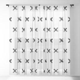 Polkadot Crosses - Dense Sheer Curtain