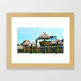 Conch House Marina in St. Augustine, Florida Framed Art Print