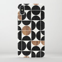 Mid-Century Modern Pattern No.1 - Concrete and Wood iPhone Case