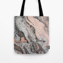 Pastel coral gray white abstract vintage marble Tote Bag