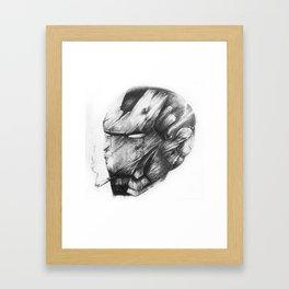 Iron Man Damaged Helment Framed Art Print