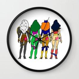 Superhero Butts Love 2 - Team Girls Wall Clock