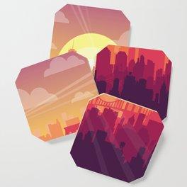 Brooklyn Sunset Coaster