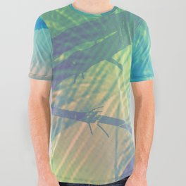Palm bird All Over Graphic Tee