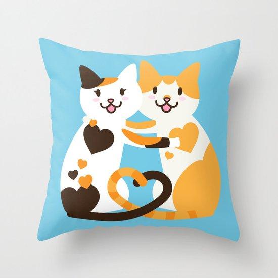 Lovecats Throw Pillow