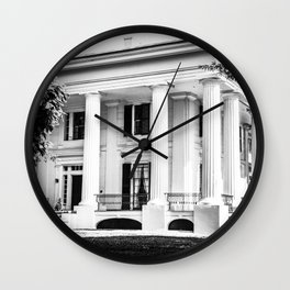 Taylor Grady House in BW Wall Clock