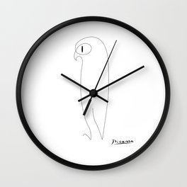 Picasso abstract animals series, picasso owl, contemorary modern line art home decor Wall Clock