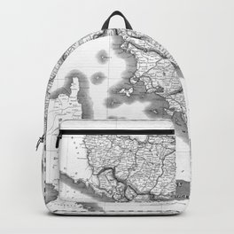 Vintage Map of Tuscany Italy (1814) BW Backpack