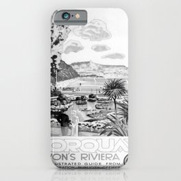 retro noir et blanc Torquay iPhone Case