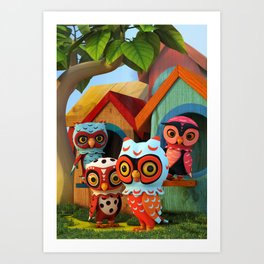 Owl City Art Print