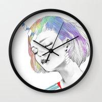 pony Wall Clocks featuring PONY by OrangeBeard
