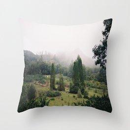 (fog meadow) Throw Pillow