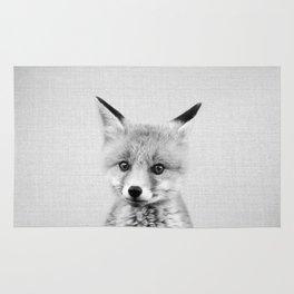 Baby Fox - Black & White Rug
